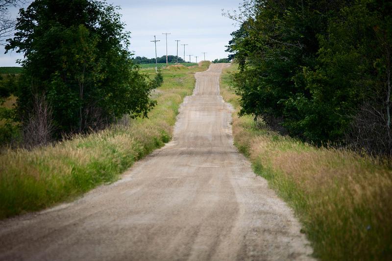 La strade marrone del Michigan.