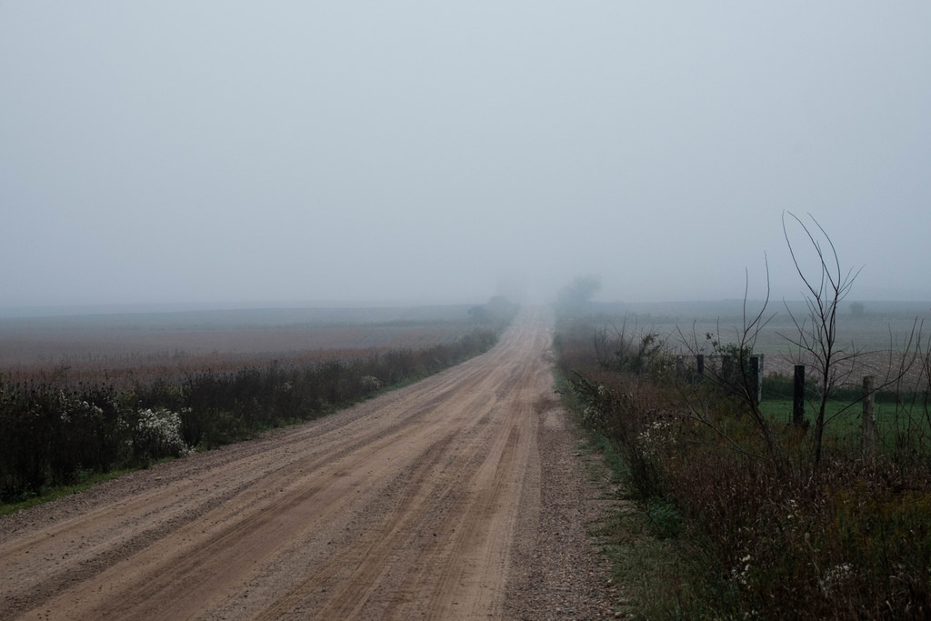 foggy-dirt-road